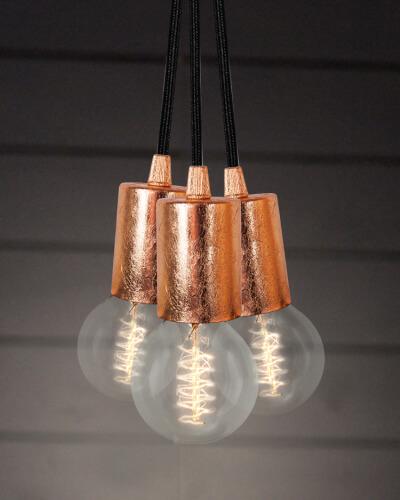 Lampa wisząca Bulb Attack Cero S3 z płatkami miedzi