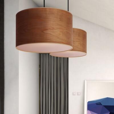 Drewniana lampa wisząca Sotto Luce Tsuri z naturalnego forniru