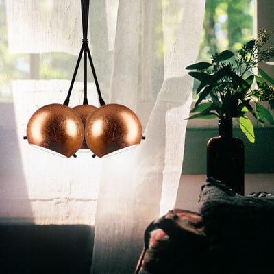 Lampa Sotto Luce Myoo 3B/S płatki miedzi