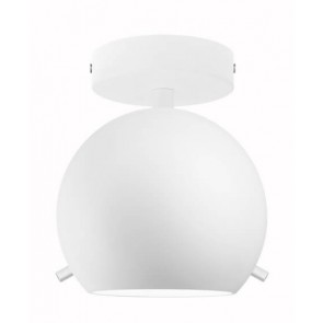 Sotto Luce Myoo Elementary CP 1/C ceiling lamp with opal matte lamp shade and white ceiling canopy