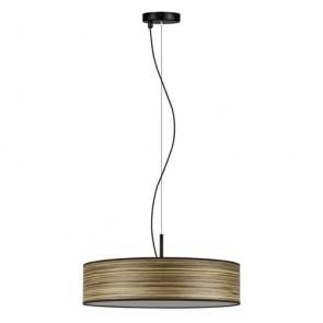 Natural Wooden Veneer Pendant Lamp Bulb Attack Ocho Slim 1/S - Zebrano