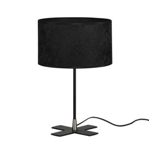 Desk Lamp Bulb Attack Quince 1/T with black lampshade made of laminated crushed velvet fabric