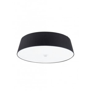 Sotto Luce KAMI Elementary ceiling lamp with black textil shade