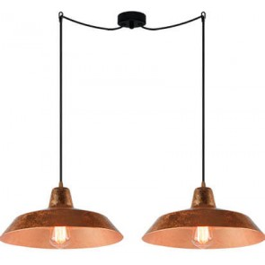 Bulb Attack Cinco S2 pendant lamp with copper shade and black power cable