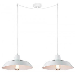 Bulb Attack Cinco S2 pendant lamp with white shade and white power cable