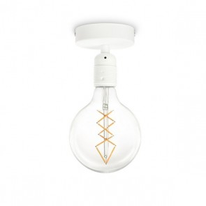 Bulb Attack Uno Basic C1 ceiling lamp with white E27 lamp holder and white ceiling canopy
