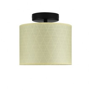 Sotto Luce Mika CP 1/C ceiling lamp with black lamp holder
