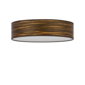Flush mount Wooden ceiling lamp Bulb Attack OCHO 1/C 400mm