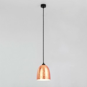 Sotto Luce Awa 1-light pendant lamp with copper/opal shade