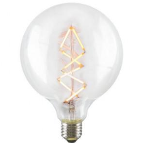 Globe Zig Zag L LED Bulb - Decorative Dimmable Filament Light on