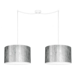 Bulb Attack TRES Plisado S2 silver double pendant lamp