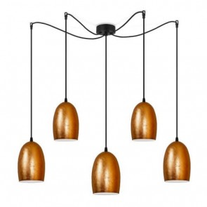 Sotto Luce UME Elementary 5/S copper/opal pendant lamp