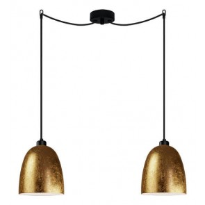 Sotto Luce Awa 2/S Elementary gold/opal pendant lamp