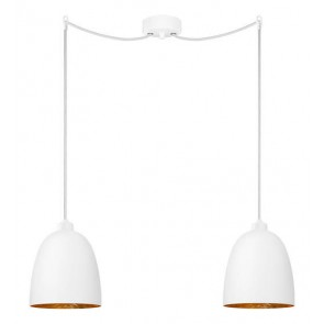 Sotto Luce Awa 2/S Elementary opal matte/copper lamp