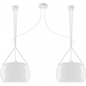 Sotto Luce MOMO Elementary 2/S ceiling lamp with opal shade