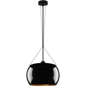 Sotto Luce MOMO Elementary 1/S pendant lamp black/gold leaves