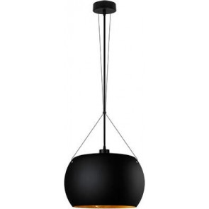 Sotto Luce MOMO Elementary 1/S pendant lamp black matte/gold leaves