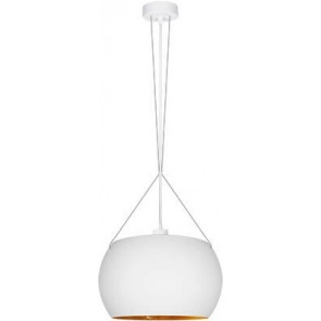 Sotto Luce MOMO Elementary 1/S pendant lamp with opal matte/gold glass shade