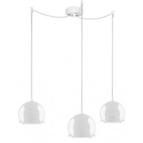 Sotto Luce MYOO Elementary 3/S pendant light with opal lamp shade