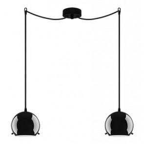Sotto Luce MYOO Elementary 2/S ceiling light with black/opal lamp shade