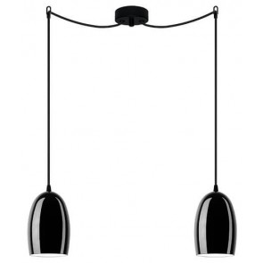 Sotto Luce UME Elementary 2/S decorative black ceiling light fitting