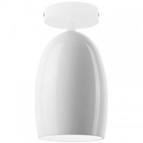 Sotto Luce Ume Elementary CP 1/C ceiling lamp with opal lamp shade and white ceiling canopy