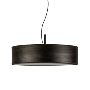 Lampa wisząca z naturalnego drewnianego forniru Bulb Attack OCHO Slim 1/S