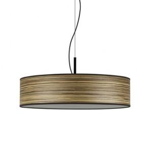 Lampa Sufitowa z Naturalnej Okleiny Drewnianej Bulb Attack OCHO Slim 1/S