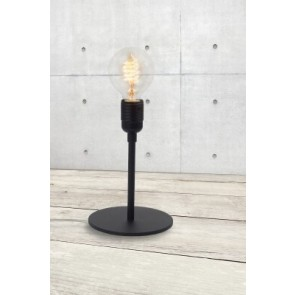Bulb Attack UNO Basic F1 floor lamp with black lamp holder and metal base