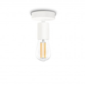 Bulb Attack Cero Basic C1 ceiling lamp with black E27 bulb holder and black ceiling canopy