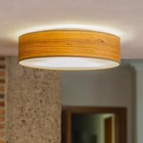 Plafon z naturalnego drewna Bulb Attack OCHO 400mm