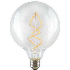 Dekoracyjna żarówka LED, ściemnialna w stylu retro loft - Globe ZIG ZAG L 6,5W A+