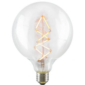 Decorative Dimmable Big Bubble Spiral LED Filament Light Bulb E27 6,5W on