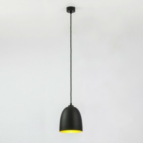 Sotto Luce Awa Elementary pendant lamp with black matte/gold shade