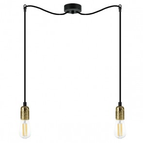 Bulb Attack CERO S5 pendant lamp with black metal bulb holder
