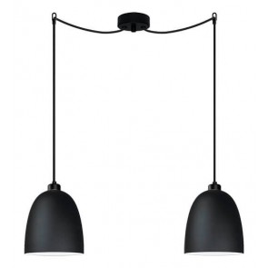 Sotto Luce Awa 2/S Elementary black/opal ceiling lamp