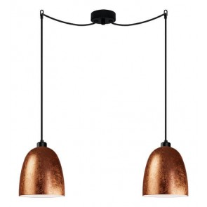 Sotto Luce Awa 2/S Elementary copper pendant lamp