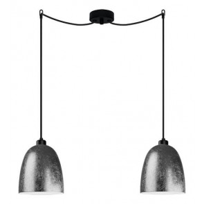 Sotto Luce Awa 2/S Elementary silver/opal ceiling lamp