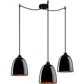 Sotto Luce Awa Elementary 3/S  with black/copper lamp shade