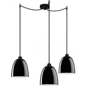 Sotto Luce Awa Elementary 3/S with black lamp shade