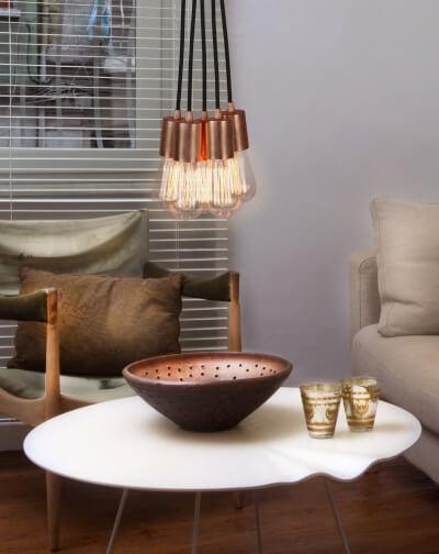 Szeroki wybór pięknych miedzianych lamp