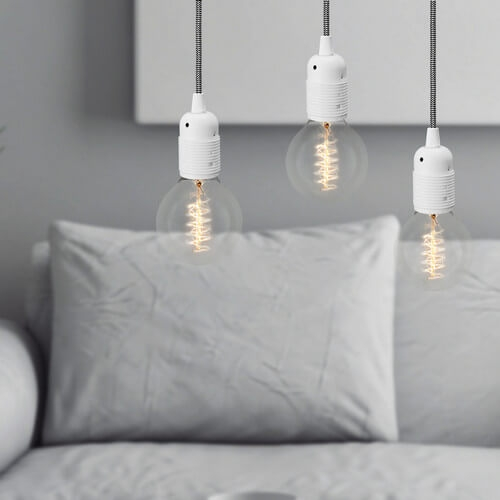 Potrójna lampa sufitowa Bulb Attack UNO S3 biała