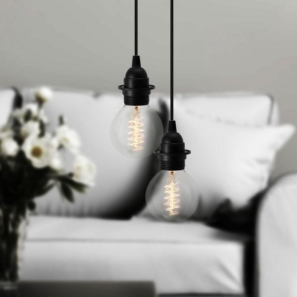 Lampa wisząca Bulb Attack Uno Plus 2 z możliwością montażu abażurów