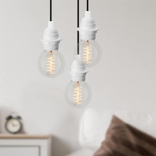 Lampa Loft Bulb Attack UNO Plus S3 biała z możliwością zamontowania abażuru