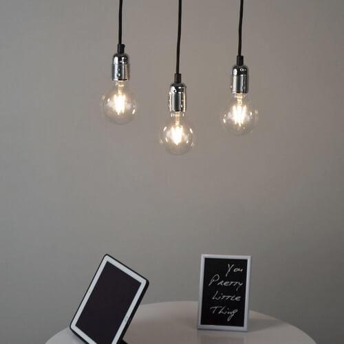 Minimalistyczna lampa wisząca Bulb Attack Uno Basic S3 srebro połysk