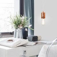 Nowoczesna lampa wisząca Bulb Attack Cero w płatkach miedzi