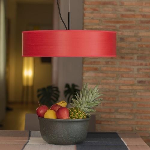 Ekskluzywna lampa drewniana Bulb Attack Ocho - Czerwona