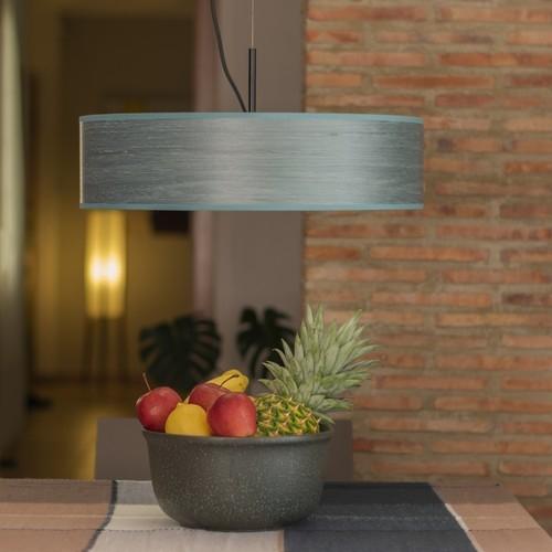 Drewniana lampa wisząca Bulb Attack Ocho Slim 1/S - Niebieska