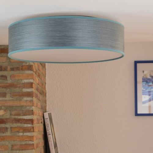 Plafon z naturalnego drewna Bulb Attack Ocho 1C L niebieski
