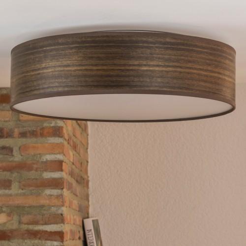 Plafon z drewnianego forniru Bulb Attack Ocho - eukaliptus